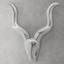 vidaXL Veggmontert aluminium Gazelle-hode dekorasjon Sølv 50 cm
