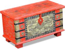 vidaXL Förvaringskista mangoträ röd 80x40x45 cm