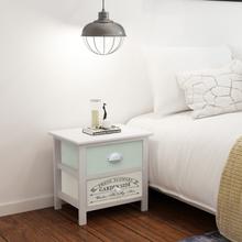 vidaXL Nattduksbord i fransk stil 2 st trä