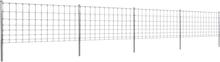 vidaXL Stängsel med stolpar förzinkat järn 50 m 100/8/30