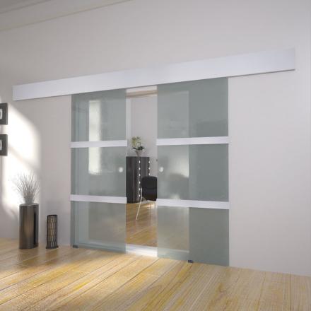 vidaXL dobbeltskydedør i glas