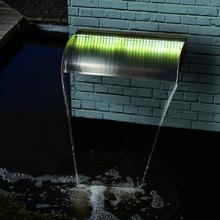 Ubbink Nevada vattenfall rostfritt stål 90 cm med LED-lampor