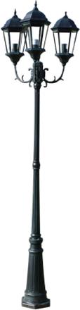 vidaXL Brighton Stolplykta 3-armad 230 cm mörkgrön/svart