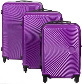 Resväskeset - Resväskor - 3 st Lila hardcase resväskor - I modern design