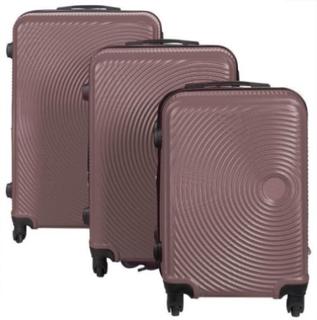 Resväskeset - Resväskor - 3 st rosa guld hardcase resväskor - I modern design