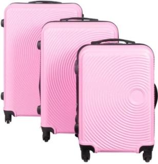 Resväskeset - Resväskor - 3 st Rosa hardcase resväskor - I modern design