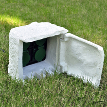 vidaXL udendørs stikdåse 4 udtag vandtæt resin hvid
