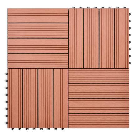 vidaXL WPC fliser 30x30cm 11 stk. 1m2 brun