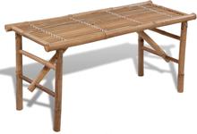 vidaXL foldbar havebænk 118 cm bambus