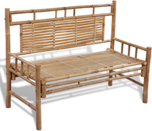vidaXL havebænk 120 cm bambus