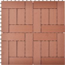vidaXL Balkongplattor Bruna WPC 30 x 30 cm 11 st