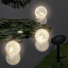vidaXL Flytande LED solcellslampor för damm 3 st