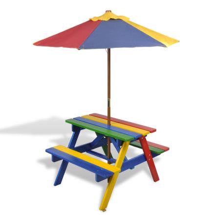 vidaXL Piknikbord for barn