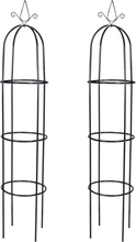 vidaXL Växtstöd obelisk 2 st