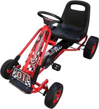 vidaXL pedal-gokart til børn rød