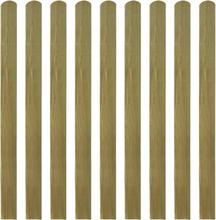 vidaXL Impregnerade staketribbor 10 st trä 120 cm