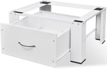 vidaXL Sockel till tvättmaskin med låda vit