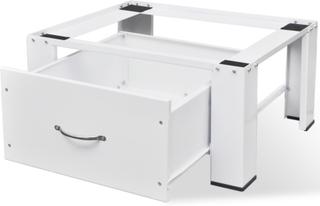 vidaXL vaskemaskinesokkel med skuffe hvid