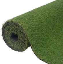 vidaXL Konstgräsmatta 1 x 8 m/20-25 mm grön