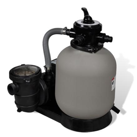 vidaXL sandfilterpumpe 4600 W 17000 l/t