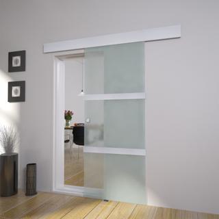 vidaXL Glass skyvedør