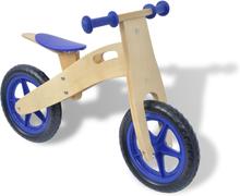 vidaXL balancecykel træ blå