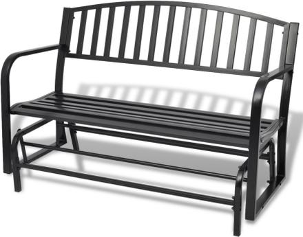 vidaXL Gungbänk stål svart