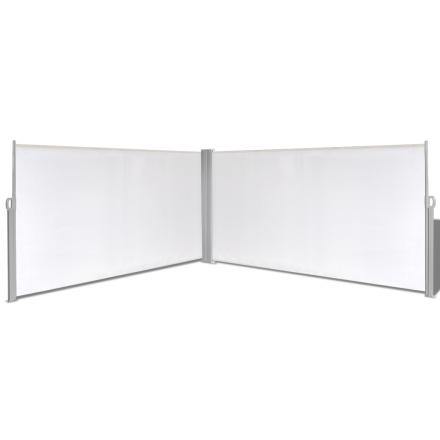 vidaXL Infällbar skärm 160x600 cm gräddvit