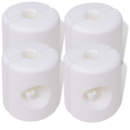 vidaXL Lysthusvekter 4 stk plast