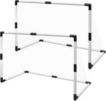 vidaXL Minifotbollsmål 2-pack för barn 91,5x48x61cm