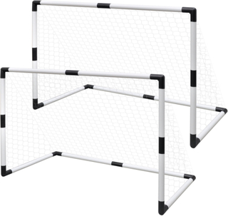 vidaXL Mini Fodbold Mål Indlæg Net Sæt 2 stk til Børn 91,5 x 48 x 61 cm