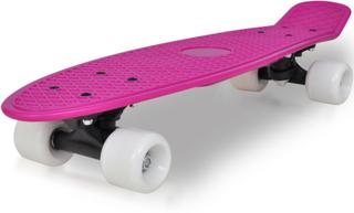 vidaXL Retro skateboard med lilla top og hvid hjul 6,1
