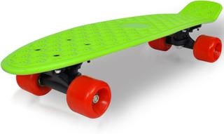 vidaXL Retro skateboard med grøn top og røde hjul