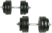 vidaXL Hantelset 18 delar 30 kg