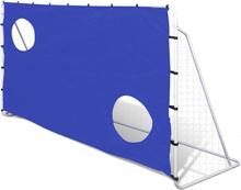 vidaXL Fotbollsmål med siktvägg 240x90x150cm