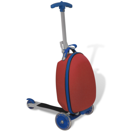 vidaXL Rød børnescooter med baggageboks