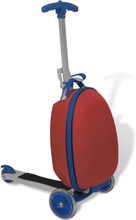 vidaXL løbehjul til børn med trolleykuffert rød