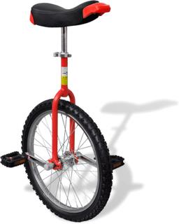 vidaXL Justerbar ethjulet cykel 20 tommer rød