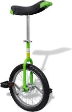 vidaXL Enhjuling 16 tum grön