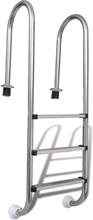 vidaXL Bassengstige 3 trinn rustfritt stål 120 cm