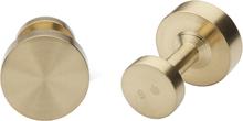 Icon Manschettknappar Model 1 matt Guld 15 mm