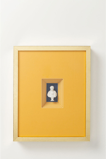 KARE DESIGN Ancient Bust Orange Three vægdekoration - klart glas/orange papir (50x40)