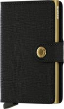 Secrid Miniwallet liten plånbok i skinn och metall, Svart