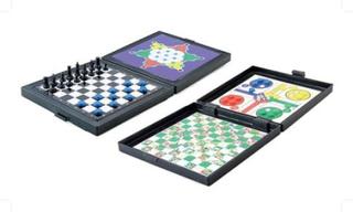 5 spel 1, Fia med knuff, Schack, sällskapsspel, brädspel, miniformat