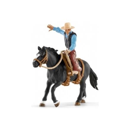 Schleich - 41416 Farm World - Sadlad häst med cowboy
