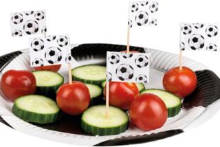 24 stk Mat / Kakeflagg - Fotballparty