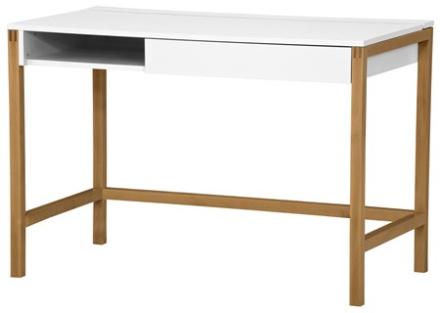 Woodman Northgate MEL medium skrivbord – Vit/ek