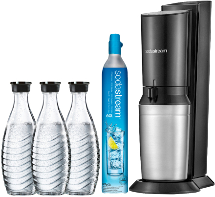 Sodastream Crystal Black Metal Megapack