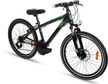 "Cykel Highflyer 24"" - svart/grön"