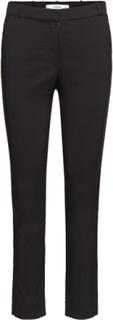 Crop Slim-Fit Trousers Slimfit Bukser Sort MANGO